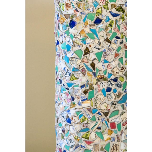 Wonderfully unique mosaic lamp - completely hand-made - from France. This table lamp is hand-crafted in a type of mosaic...