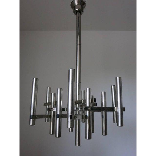 Gaetano Sciolari Tubular Pendant by Sciolari For Sale - Image 4 of 6