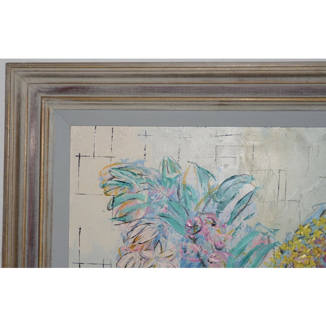 """Marguerite Daniel """"Floral Still Life"""" Original Oil Painting c.1960s Wonderful mid century oil painting of a bright and..."""