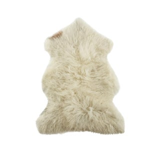 "Contemporary Natural Sheepskin Pelt - 2'0""x3'0"" For Sale"