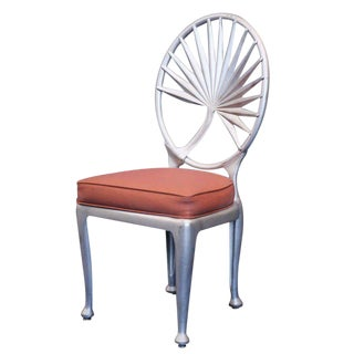 Aluminum Palm Leaf Dining Chair Indoor and Outdoor Patio Use, 12 Available Indoor Outdoor For Sale