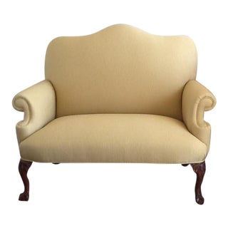 Butter Cream Ball & Claw Settee