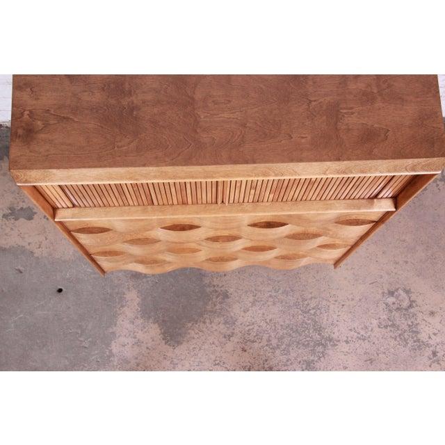 Edmond Spence Wave Front Highboy Dresser For Sale - Image 9 of 13