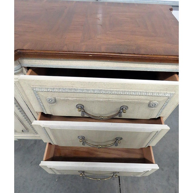 Louis XV Style Fruitwood Top Distressed Painted Sideboard For Sale - Image 11 of 13