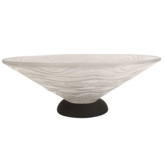 French Art Deco Frosted Cone Bowl by Andre Hunebelle