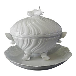 Royal Limoges Fish Tureen With Matching Serving Plate - a Pair For Sale