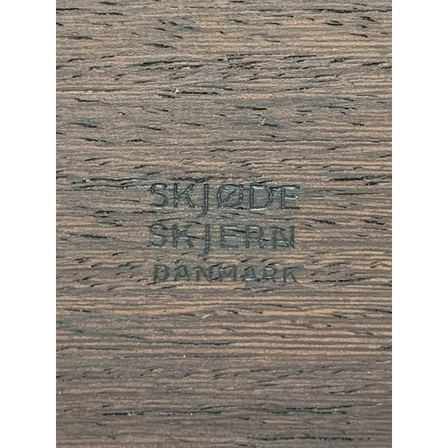 1960s Large Danish Modern 3 Foot Wood Tray From Skjøde Skjern For Sale - Image 9 of 12