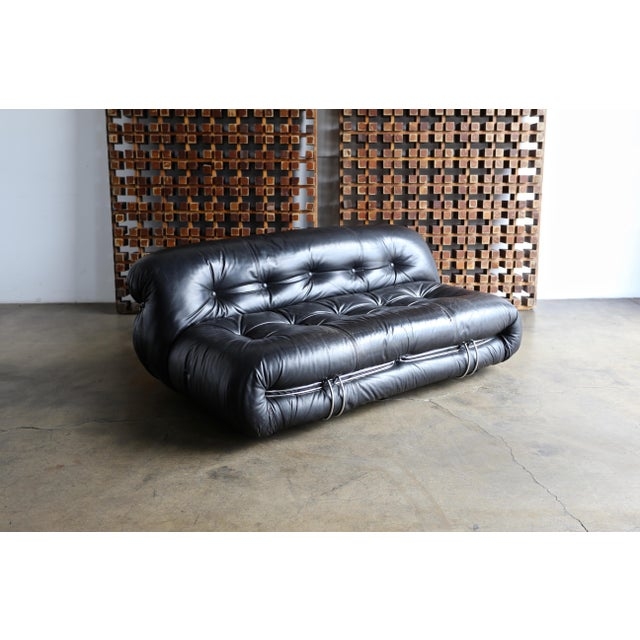 Cassina 1970s Vintage Soriana Settee by Afra & Tobia Scarpa for Cassina For Sale - Image 4 of 13