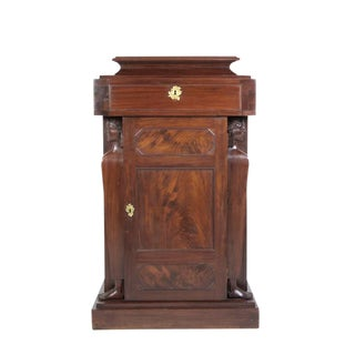 English Mahogany Pedestal Cupboards - A Pair