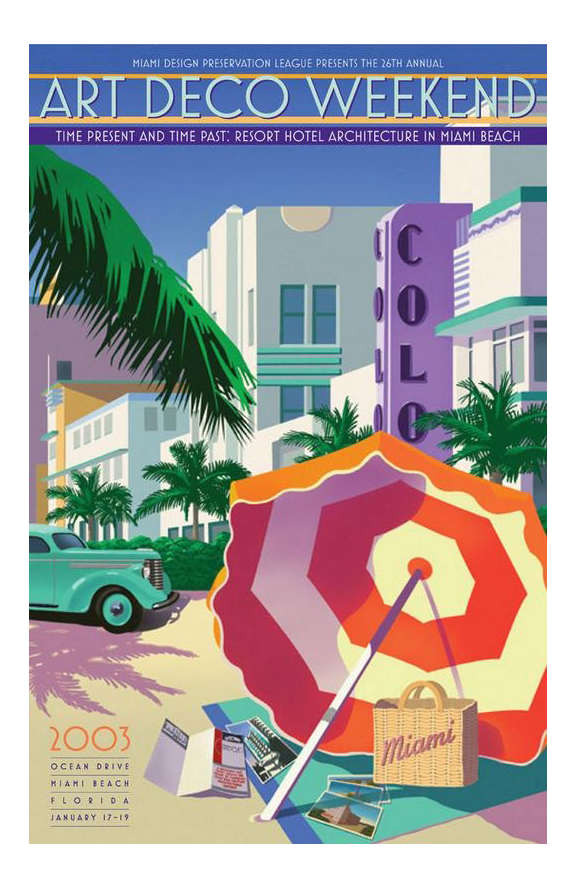 large art deco miami framed poster chairish