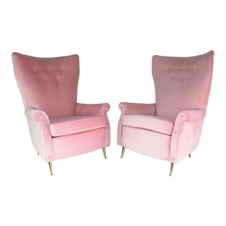 Italian Mid-Century Armchairs by Isa Bergamo, Set of Two, 1950s For Sale