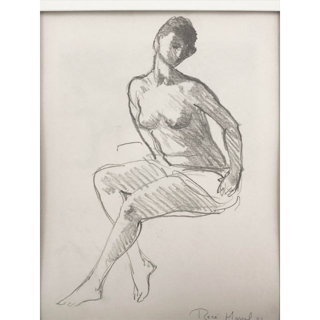 Vintage Figure Drawing by Rene Marcil - Image 3 of 6