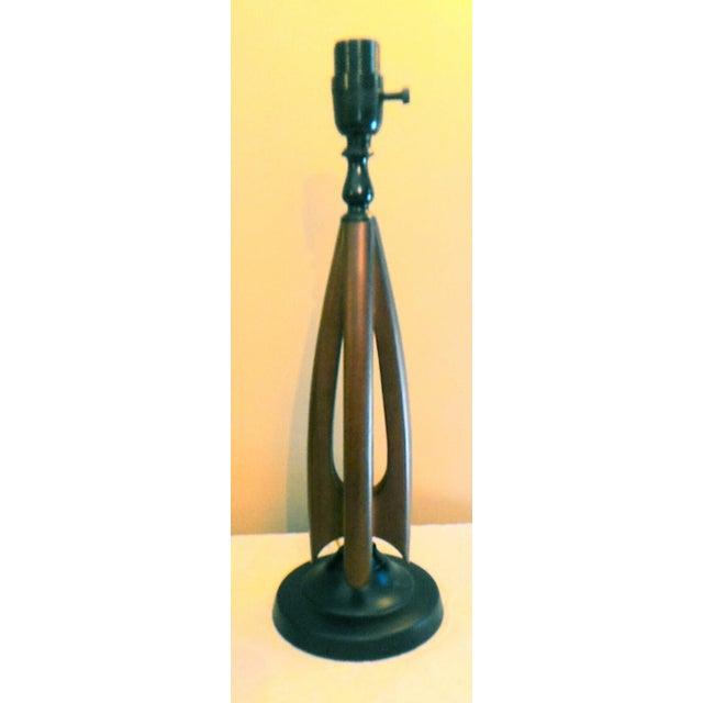 Mid-Century Modern Atomic Danish Wood Mini Lamp - Image 6 of 11