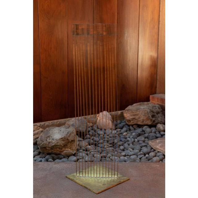 "Large Val Bertoia 15-Rod ""Curve of Sounding Cat Tails"" Sculpture, 2016 For Sale - Image 11 of 13"