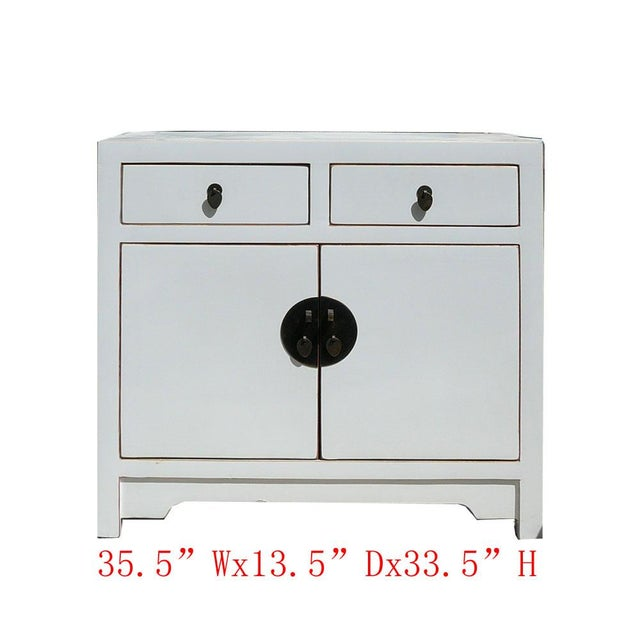 Slim & Narrow White Side Table/Console/Cabinet - Image 5 of 5