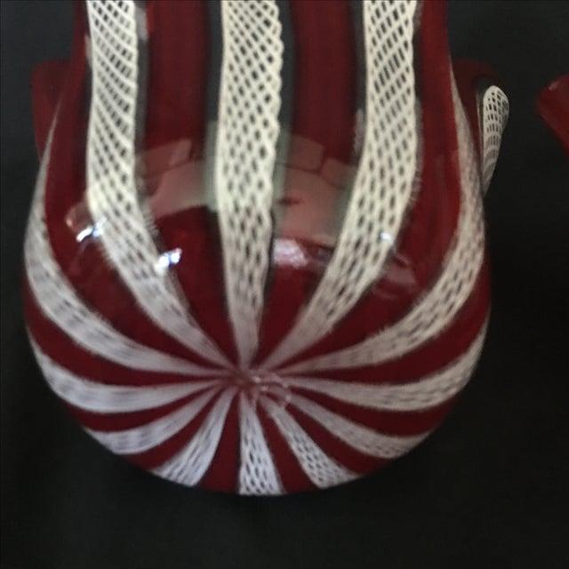 Venini Murano Handkerchief Vases - A Pair - Image 6 of 9