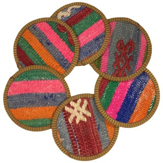 Kilim Coasters Set of 6 | Çukur For Sale