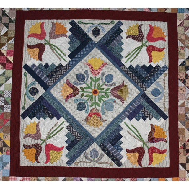20th Century Amazing Center Star Medallion Quilt - Image 3 of 9