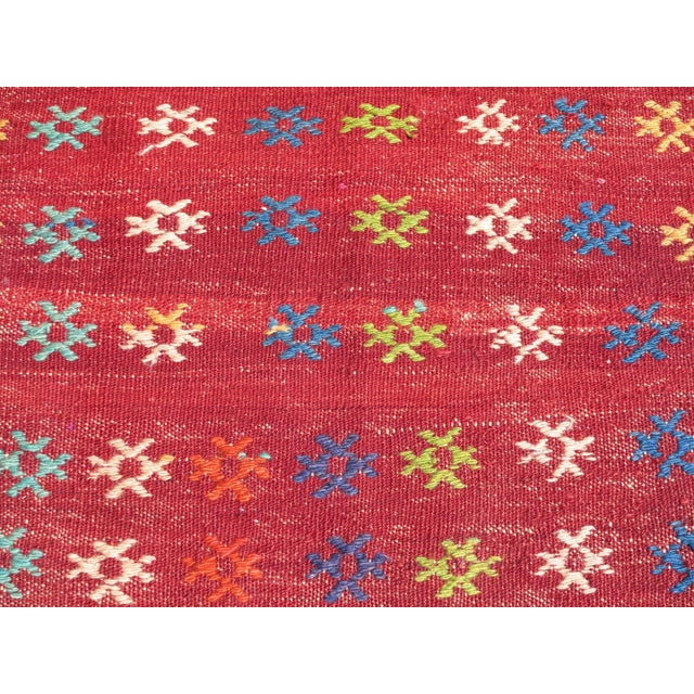 Vintage Turkish Kilim Rug - 3′ × 3′8″ - Image 7 of 8