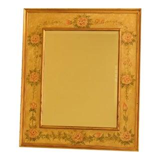 Floral Decorated Rectangular Decorative Mirror
