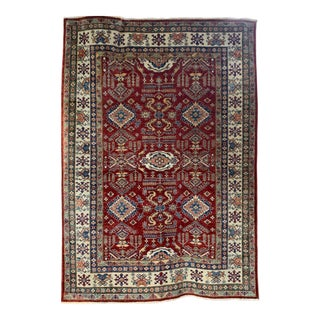 "Kazak Wool Geometric Rug-5'8"" X 7'9"" For Sale"