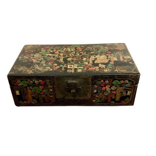 1900s Chinese Scenic Painted Box For Sale