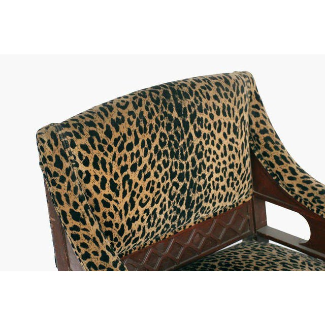 Empire Style Chair Pair with Leopard Print Covering For Sale - Image 5 of 8