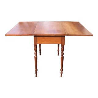 Antique American Maple Drop-Leaf Table For Sale