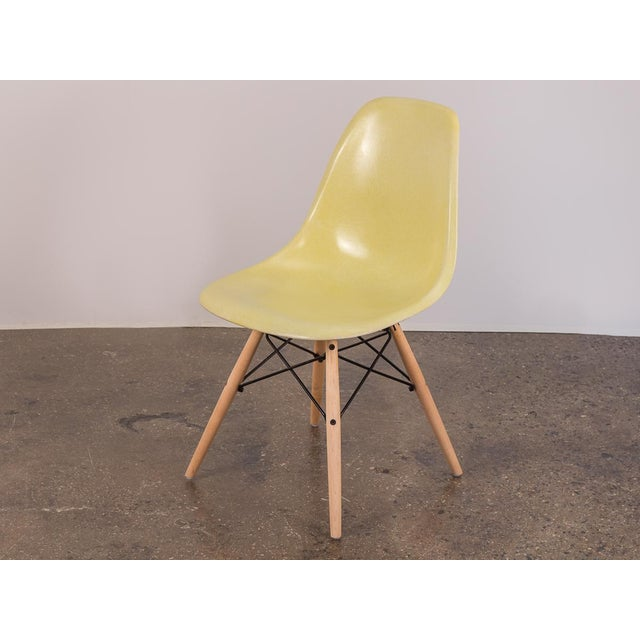 Herman Miller Canary Yellow Eames Shell Chair on Maple Dowel Base for Herman Miller For Sale - Image 4 of 8