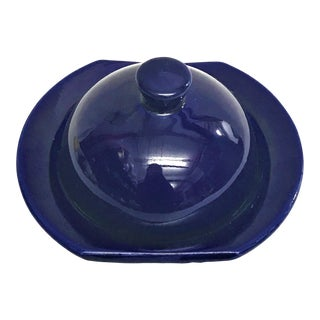 Hand Painted Violet Moroccan Ceramic Serving Dish
