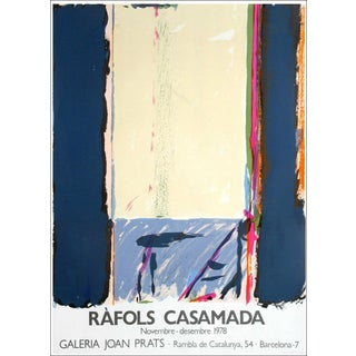 1978 Alberto Rafols Casamada Joan Prats Gallery Poster Lithograph For Sale