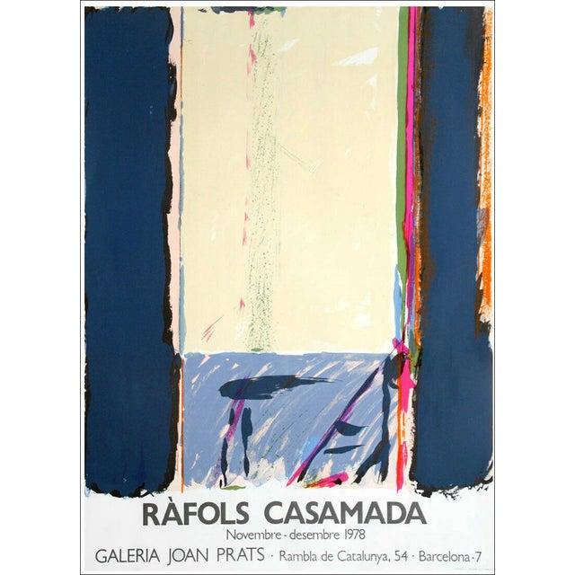 1978 Alberto Rafols Casamada Joan Prats Gallery Poster Lithograph For Sale