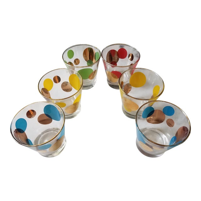 Russel Wright Mid-Century Eclipse Gold Cocktail Glasses - Set of 6 - Image 1 of 10