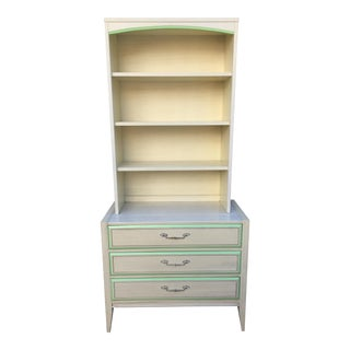 Vintage Mid-Century Basic-Witz Two-Piece Bookshelf & Chest For Sale