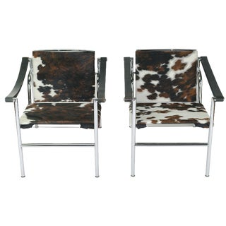 Le Corbusier LC1 Chairs by Cassina - A Pair