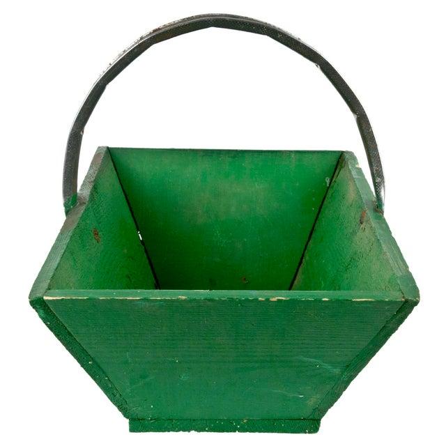 Vintage French Green Gardening Trug - Image 3 of 6