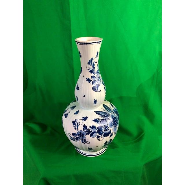 Delft Delft Vase Mid 19 Century For Sale - Image 4 of 6
