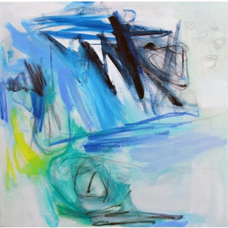 """Chasing Blue"" by Trixie Pitts Abstract Oil Painting on Canvas"