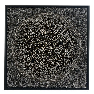 Amy Genser Black and White Square #11 Dimensional Paper Piece For Sale