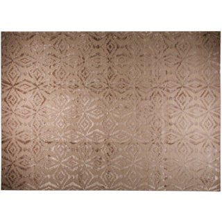 Stark Studio Rugs Contemporary Oriental Indian Wool and Viscose Rug - 10′ × 13′10″ For Sale