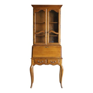 1990s French Country Ethan Allen Secretary Desk For Sale
