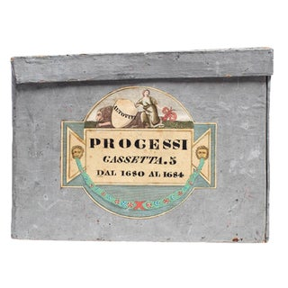 Antique Italian Grey Painted Deed Boxes - Set of 4 For Sale