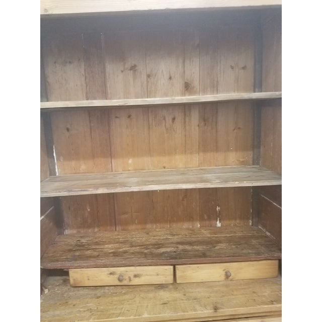 Primitive Antique Pine Cupboard - Made in France For Sale - Image 9 of 13