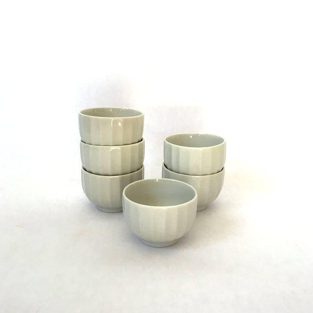 Ribbed Tea Cups - Set of 6 - Image 2 of 4