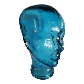 Large Turquoise Glass Head
