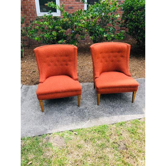 Mid-Century Modern Burnt Orange Chairs - a Pair For Sale - Image 11 of 13