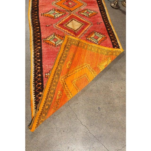 Vintage Moroccan Tribal Rug Runner Matisse Style For Sale In Los Angeles - Image 6 of 7