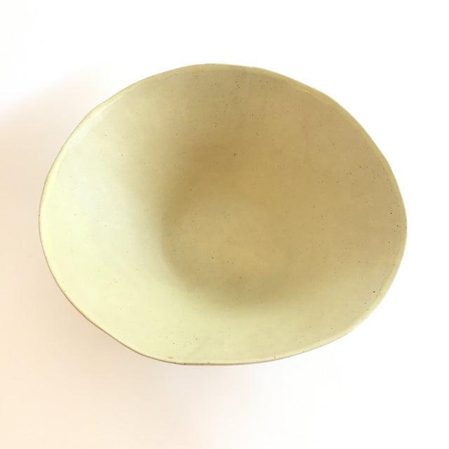 Christiane Perrochon Yellow Ceramic Bowl For Sale - Image 4 of 5