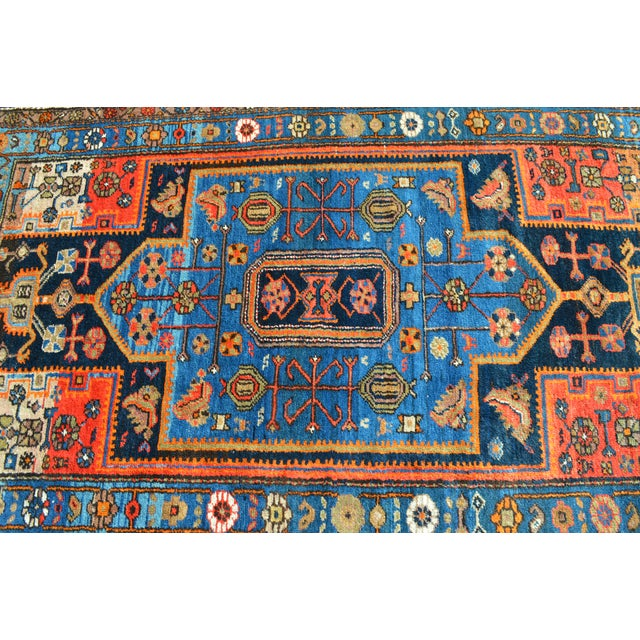 "Vintage Persian Tribal Rug - 4'3"" X 7'4"" - Image 4 of 4"