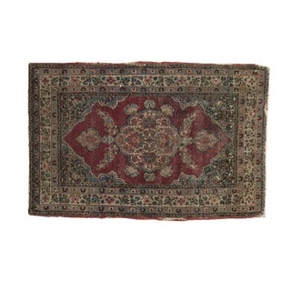 "Antique Kerman Rug Mat - 1'11"" X 2'11"""